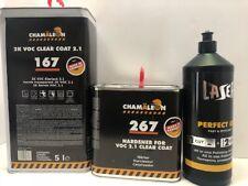 European Clear Coat 2K 2:1 Mix 2.1 VOC FAST (7.5L kit) High Gloss & Compound 1kg