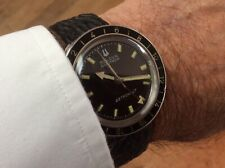 1968 BULOVA Accutron 214 Astronaut Stainless BLACK SWISS Mens Watch