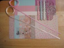 "Stampin Up FALLING IN LOVE 6 X 6"" Designer Paper Card Kit Ribbon"