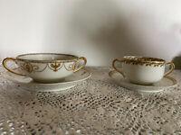 Vintage Haviland Limoges Cup And Saucer - Fine Porcelain China  2 Sets