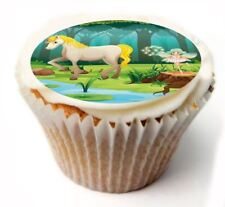 Horse Fairy Birthday Cupcake Toppers x20 Rice Paper or Icing, Personal. 898