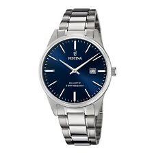 Festina F20511-3 Men's Blue Dial Silver Tone Bracelet Wristwatch