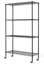 """82""""x48""""x18"""" Commercial 4 Tier Shelf Adjustable Steel Wire Metal Shelving Rack 74"""