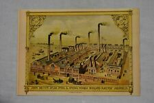 Postcard Sheffield John Brown Atlas Works Midland Railway ETW Dennis & Sons Ltd