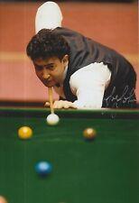 Joe Johnson Snooker 12x8 Foto Firmada a Mano Leyenda.
