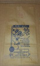 1938 COUNTRY STORE 'NEIGHBORHOOD MERCHANT' CANDY BAG 'PLAY IT SAFE'
