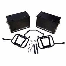 Tusk Aluminum Panniers w/ Pannier Racks Large Black SUZUKI DRZ400S DRZ400SM