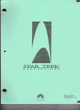 STAR TREK: Generations Movie Script