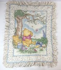 Disney Baby Classic Pooh Winnie Quilted Crib Blanket Nursery Comforter Ruffled