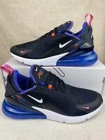 New Men's Nike Air Max 270 Running Shoes Size 10 Black White Blue DC1858-001