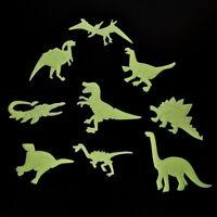 9X Luminous Wall Stickers Dinosaur Home Decor Fluorescent Kids Room Wall~Dec Jf