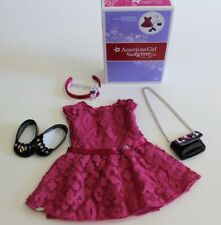 American Girl Doll Dress Shoes Purse Outfit Merry Magenta Pink Authentic NEW