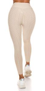 Trendy High-Waist Leggings Beige