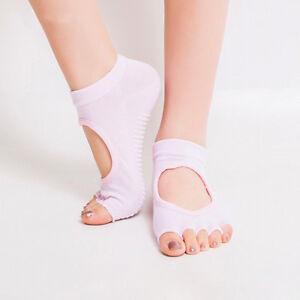 Women Yoga Socks Non Slip Half 5 Toes Pilates Massage Socks Gym Sport Ankle Girl
