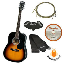 "GIBSON ACOUSTIC GUITAR FULL SIZE 41"" With Strap Picks Extra String Set DVD"