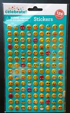 Emoji Stickers 3D Foil (Pack of 126) 30+ Unique Emoji Faces! IPhone Android