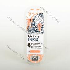 Skullcandy Ink'd 2 In-Ear Buds Earphones Headphones w/Mic Headset Sunset Orange