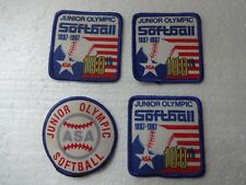 Lot of 4 Vintage Junior Olympic Softball patches circa 1980's