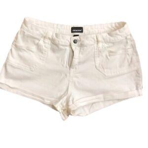 Joe boxer White Cotton shorts size 13 woman's cuffed