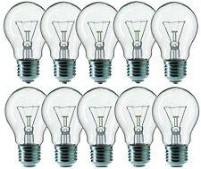 10 x SOLEO Glühbirne 100W E27 100 Watt Brine Leuchtmittel 230V A55 Klar