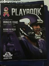 2016 Minnesota Vikings Texans Playbook Program 10/9/2016