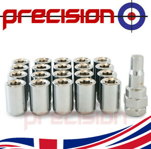20 Chrome Wheel Tuner Nuts for Land Rover Freelander Aftermarket Alloys