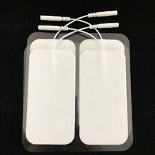 4x Large Tens Machine Electrode Pads Reusable Patches For Massagers Musle Relax