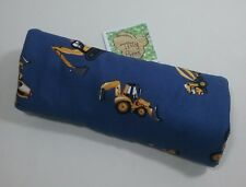 Handmade luggage suitcase handle wrap cosy seat belt cover digger truck tractor