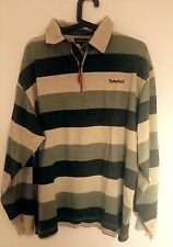 Authentique TIMBERLAND  Polo rugby rayé  long sleeve Striped TAILLE M