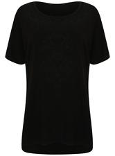 Ladies Bling Womens Evans Top T Shirt Plus Size Big Large Size 14 - 32 Black 2628