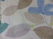 John Lewis Paper Flowers Blue Green Floral Curtain Cushion Fabric Remnant Floral