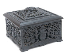 Openwork Floral Ornament Rare Casket Box Lacy VINTAGE CAST IRON Russian Kusa
