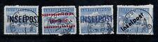NK34) 1944 Inselpost 4x vervalsing  opdrukken  fake/maakwerk