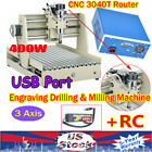 3 Axis 3040 CNC Router Engraver Wood Carving Mill Machine VFD 3D Cutter USB + RC