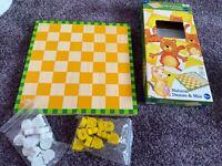 Imaginarium ++ Spiel Mühle aus Holz - Brettspiel Mühle ab 5 Jahren Wie neu