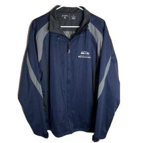 Vintage Antigua men's NFL Seattle Seahawks outdoor Rain  jacket blue L