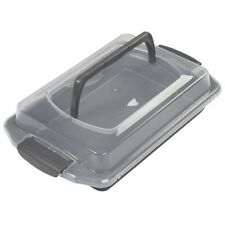 Wilton Bake It Better Non-Stick Oblong Cake Pan with Lid and Handle, 9 x 13-Inch