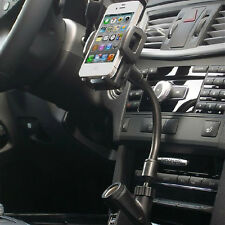 Car Cigarette Lighter Mount Stand Holder + 2 USB Port Charger For Cell Phone GPS