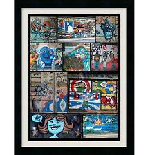 BRAZIL WALL GRAFFITI POSTER PRINT RIO DE JANEIRO  COLLAGE STYLE  12x18