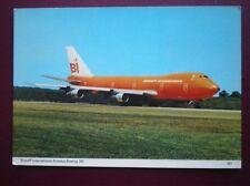 POSTCARD AIR BRANIFF INTERNATIONAL AIRWAYS BOEING 747 JUMBO JET