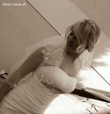 Doppellagiger zarter Brautschleier, funkelnd mit Strass, Hochzeit, ivory, Braut