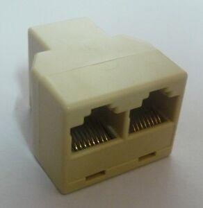 RJ45 Network Cable Y SPLITTER plug coupler extender cat5 cat5e joiner female NEW