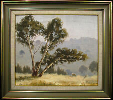 Robyn Collier early original oil titled 'Afternoon Haze Sofala' Australia