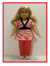 Pink Zebra Print Top & Leggings Set American Girl Doll