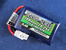 1 Turnigy Nano-Tech 180mAh 2S 25C Battery LiPo Eflite Beast HyprTaxi EFLB1802S20