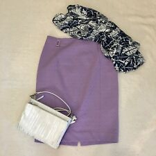 Women's The Limited Cotton  Lilac Pencil Skirt Size 10