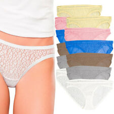 Fruit of the Loom Womens 6 Pack All Over Lace Bikini Panties