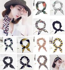 Women Kerchief Flower Triangle Scarf Head Wrap Neck Bandana Hijab Hair Band Tie
