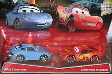 "DISNEY PIXAR CARS ""2-PACK SALLY W/CONE  /  LIGHTNING McQUEEN "" NEW IN PACKAGE"