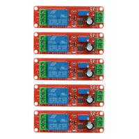 5pcs DC 12V Delay Relay Shield NE555 Timer Switch Adjustable Module Boards Sets